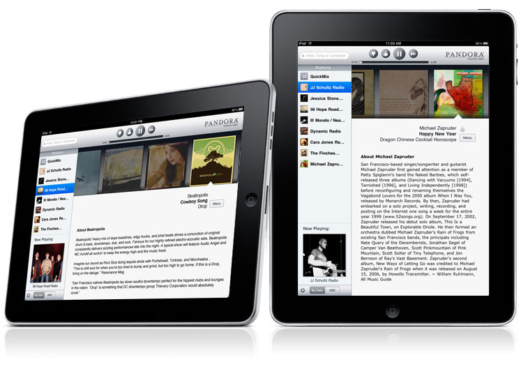 NPR, Pandora ready for iPad