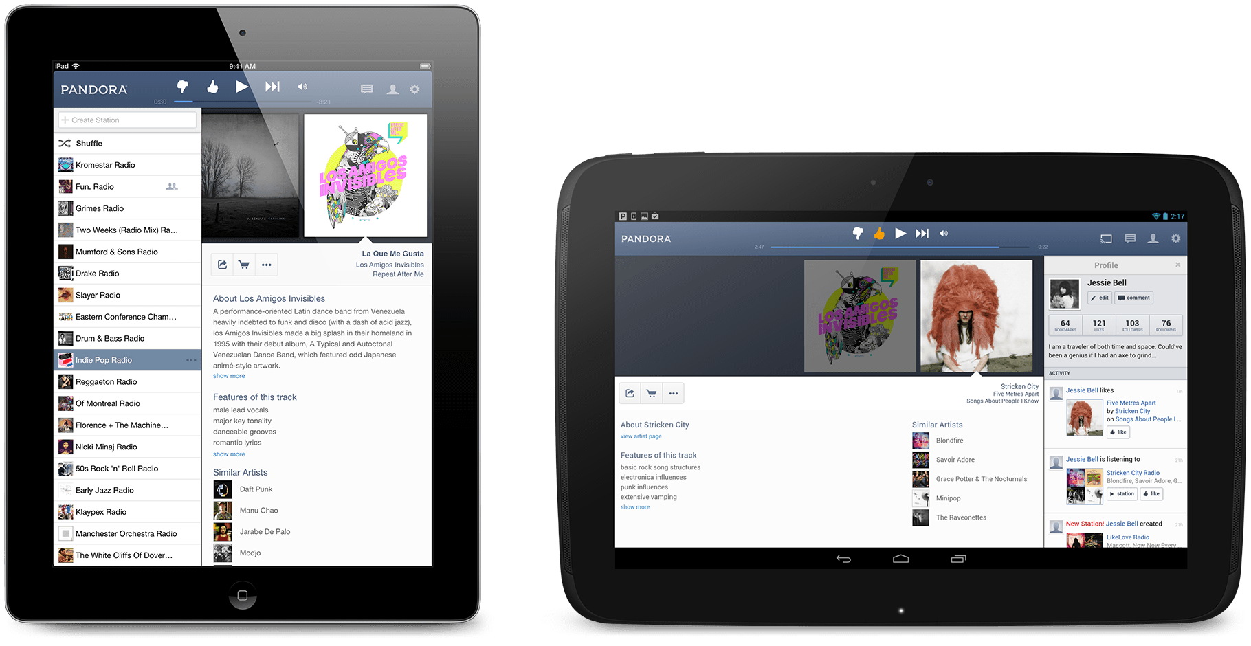 Pandora radio the best pandora experience for your ipad or android